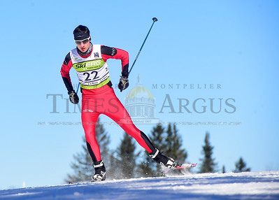 Rutland's Nate Fogg races in the Freestyle High School State Championships Thursday at the Craftsbury outdoor Center.