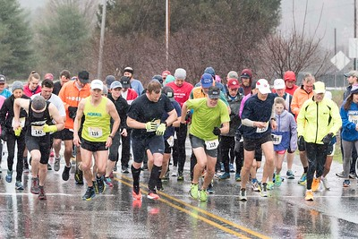 Paul Mailman 5K & 10 mile racers get started Saturday morning at the Vermont Department of Labor in Montpelier.