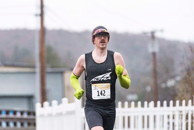 The Paul Mailman 10 mile race winner Alexander Jinks of East Montpelier sets the pace in Montpelier on Saturday.
