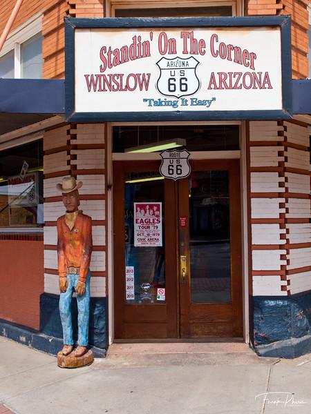 June 28, 2020 -- Standin' on The Corner in Winslow, Arizona