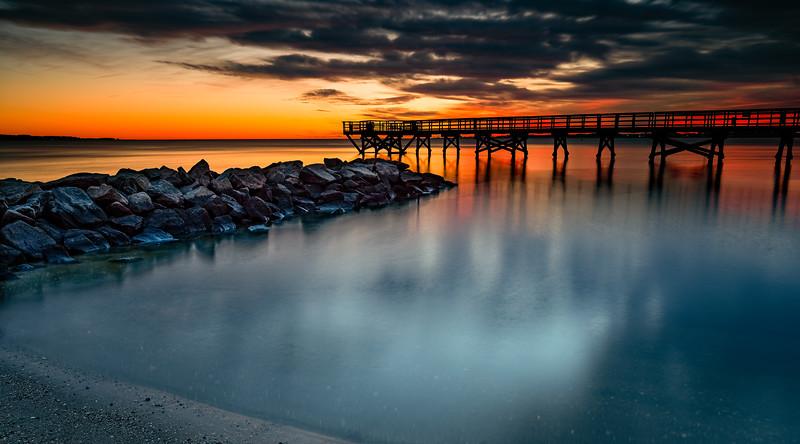 Glow along the pier