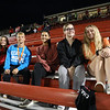 Student fans from Charleroi High School in the stands at the home soccer match vs. Waynesburg High School. (From left) Camryn Musser, Brennan Shannon, Chloe Morgan, Gabby Duche, Dylan Zahand, Sept. 15,  2021<br /> <br /> Photo: Jeff Helsel