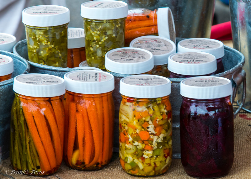 October 12, 2021 -- Freshly Canned Foods at a Tulsa Farmer's Market