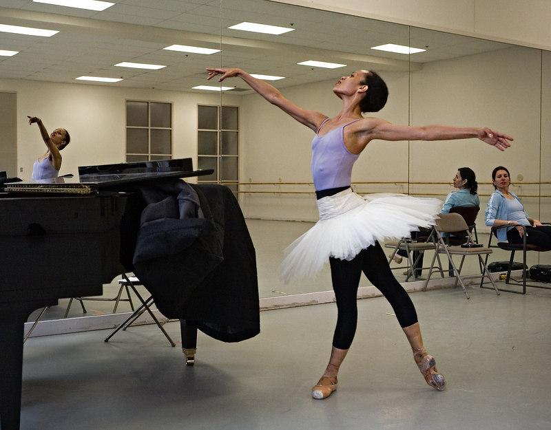 <h3>Tai Jimenez Rehearses <i>Le Corsaire</i></h3> At Boston Ballet Studio.  14 April 2006
