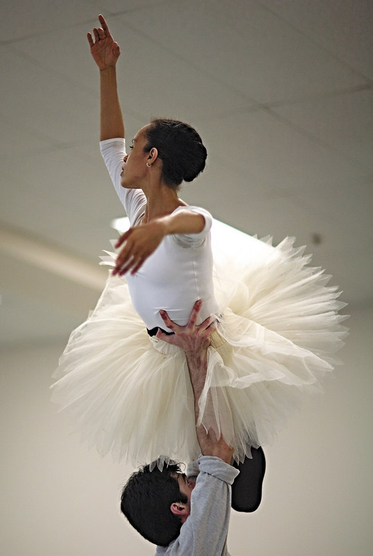 <h3>Tai Jimenez & Pavel Gurevitch</h3> Rehearsing <i>Le Corsaire</i> at Boston Ballet.  24 April 2006