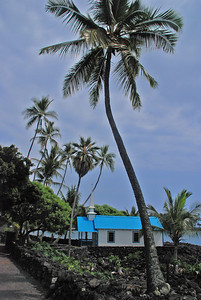 August 14  One of many small churches scattered along the Kona Coastline