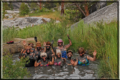 Another trek to our favorite mudhole!! Carol, Liz, Terry, Mary Pat, Myki, Me, Rikki, Katy, Susie   Ladies Camping Trip