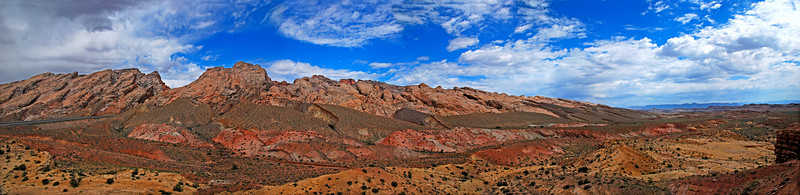 June 25  San Rafael Reef, Utah  Four shot Panorama