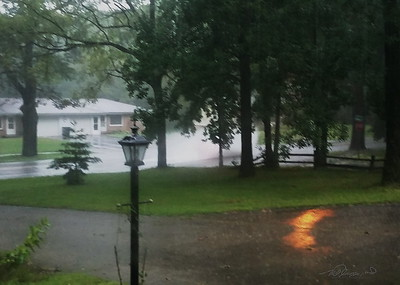 9/3    Flooded Street-Bad Storm this Afternoon