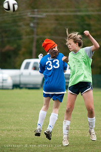 October 15, 2009  Just missed a header...  (Me...The player didn't miss...)