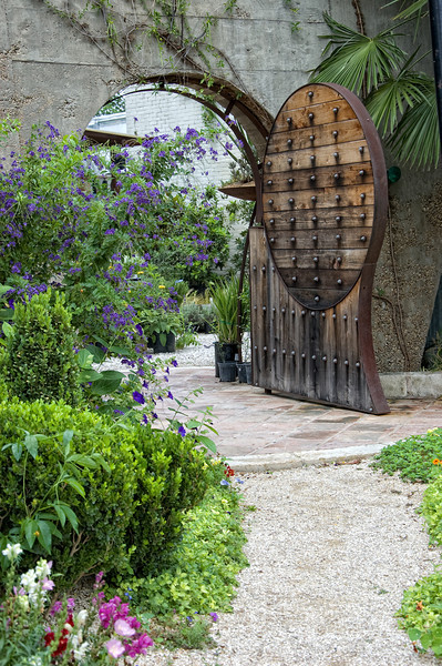 """May 13, 2009 - """"Garden Gate"""" - Entrance to  BIG RED SUN nursery in Austin."""