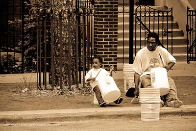September 12, 2009  Street musicians...Chicago.