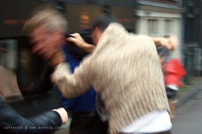 November 9, 2009  Somewhere in Amsterdam-  I wasn't really setup for action photography...