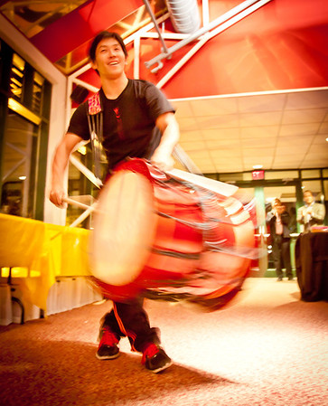 November 11, 2011 - A shot of a Yamato drummer from a networking event at McCarter Theatre last night. More photos of the event can be found HERE.