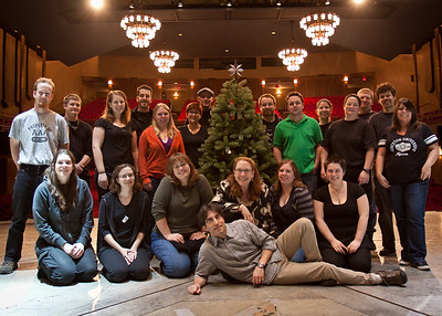 The crew of A Christmas Carol at McCarter Theatre.