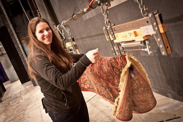 November 30, 2012 - Meredith with her magical flying carpet.