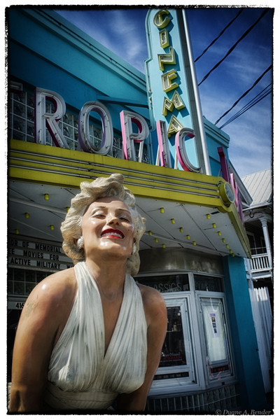 "June 3, 2013 - ""At The Cinema""  ""Forever Marilyn"" sculpture at the Tropic Cinema, Key West, Florida  as observed last week."