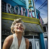 "June 3, 2013 - ""At The Cinema""<br /> <br /> ""Forever Marilyn"" sculpture at the Tropic Cinema, Key West, Florida  as observed last week."
