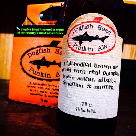 October 6, 2013 - My favorite!  Dogfish Punkin Ale
