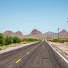 """07-13-2016<br /> """"Long Road""""<br /> <br /> A ride through the desert toward the mountains.<br /> Thank you for your comments on my photos.<br /> Donna"""