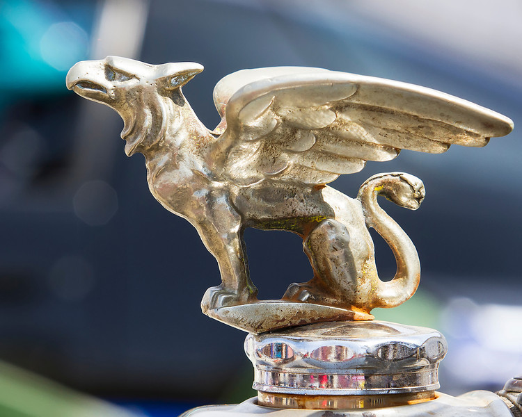 Griffin<br /> <br /> (April 8, 2013) Loved this hood ornament at the Air Show car show.