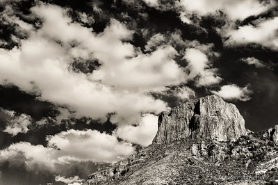 "January 7, 2013 - ""Sliding Clouds""  This was shot in Big Bend National Park in Texas and recently processed as if a film image."