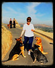 The Saint of Mount Rubidoux<br /> <br /> (June 12, 2013) Jane is a goddess to the dogs that walk on Mount Rubidoux. She always has the best treats. We humans think she's awesome too.