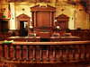 Department One<br /> <br /> (April 11, 2013) I was released from jury duty today, and the judge took us on a tour of the historic Riverside Courthouse. This is the restored original courtroom.(Taken with my cell phone)
