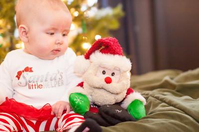 December 6, 2013 - Zoe is suspicious of Santa...