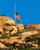 Flying Low<br /> <br /> (Feb. 22, 2013) Flag at half mast for the officers that were killed by Christopher Dorner.