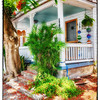 "June 5, 2013 - ""Off Duval Street""<br /> <br /> The cottages north of Duval Street in Key West, Florida are very colorful."