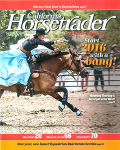 Bang!<br /> <br /> (Jan. 7, 2016) Shameless brag - cover photo for this month's California Horsetrader. The image is of Rylee Lawson at Youth Safari Days last year.