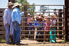 LIsten Up<br /> <br /> (June 18, 2017) The line-up gets their marching orders from the dads at the Calf Riders Only Fathers Day Rodeo. It was true dedication for the participants, since the temperature was in the 100s and the rodeo started at 1:30. Nobody melted though.