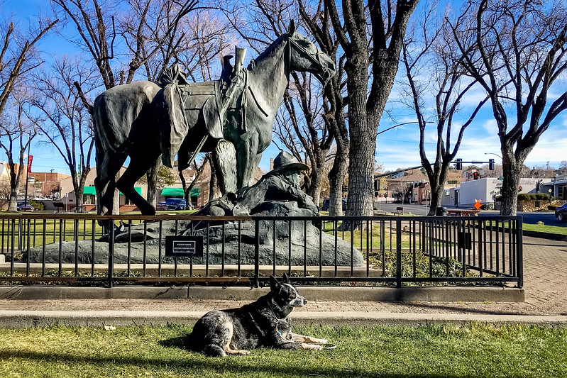 Become the Statue<br /> <br /> (December 25, 2017) Gracey worked on channeling her inner statue spirit today in the Prescott Town Square.