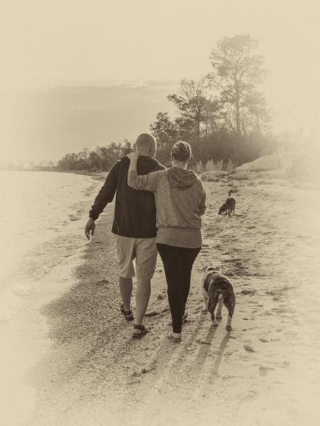 The evening beach walk....