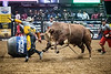 Gangway!<br /> <br /> (February 2, 2018) The best part of the show is sometimes the aftermath. Reindiction and Frank Newsom did a little dance after Valdiron de Oliveira got off at the PBR-Anaheim tonight.