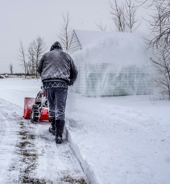 It wasn't a lot of snow & it was very light & fluffy, but still enough to have to clear the driveway. Fortunately this is never my job - I refuse to learn how to start that thing… :)  I do so appreciate all the time you spend commenting on my pics, thank you so much! xo 12/27/18
