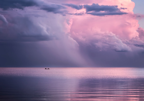 Before the storm on Lake Manitoba