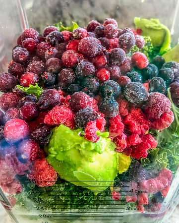 Lunch…. just before I hit the Smoothie button on the blender. Such pretty colours - almost too good to eat! (But not quite) … :) 01/06/19
