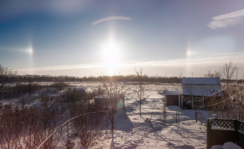 Sundogs in the morning