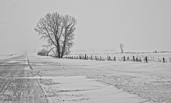 Bleak & wintery roads on a blustery day... 01.27.13