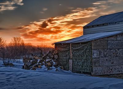 Sunrise behind the woodshed. 03.13.12