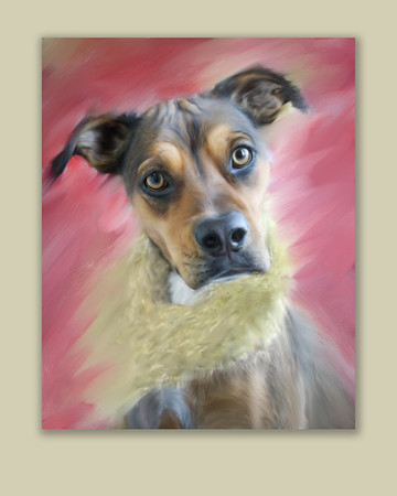 Shelby's painted portrait with a frame a little different look.