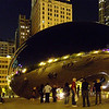 The Bean at night<br /> Chicago<br /> photo by CCI
