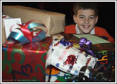 November 30, 2008 (From Nov. 27th)  Presents! Happy 7th, Trev-