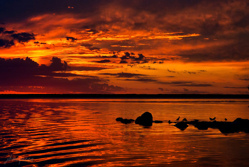 Long after sunset, the sky suddenly went orange-red.... bringing in some overnight storms. You just never really know when the show is over when it comes to a Mother Nature production....:-)) 09.06.11 (bumped the saturation a little on this, but not as much as one might think!)