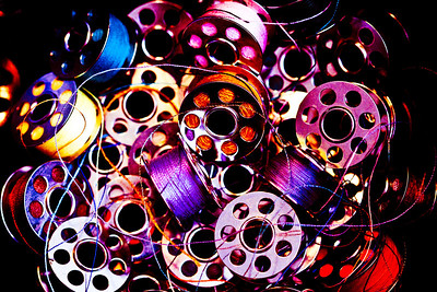 August 18, 2010 Bobbins with a lot of PP just for fun.