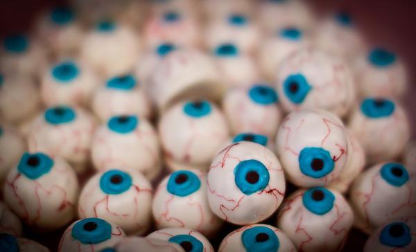 October 29, 2010 Peanut butter eyeballs. The most delicious eyeballs I've ever tasted!