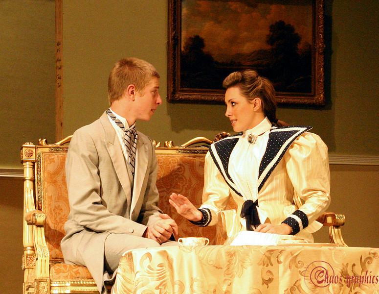 """The Importance of Being Earnest<br /> More here: <a href=""""http://chaosgraphics.smugmug.com/gallery/2109783"""">http://chaosgraphics.smugmug.com/gallery/2109783</a><br /> <br /> (Nov. 7) How earnest can you get? Can you believe these are high school kids or a high school set? Pretty sumptious looking, I must say. I had the chance to shoot the dress rehearsal for the Poly High School Theatre this evening, and the kids were amazing. I found myself enjoying a play I hated reading when I was their age."""