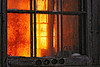 Window of rising sun - This is Sunday's sunrise through the window of an old abandoned school. I had a challenge to get good exposure throughout. Capture NX2 is really amazing with Nikon camera. I tried Bibble 5 preview with this shot and it did not get even close to the same result.